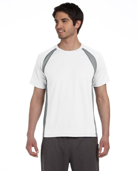 Picture of All Sport M1004 Unisex Colorblocked Short-Sleeve T-Shirt