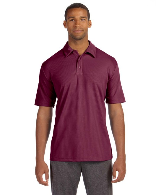 Picture of All Sport M1709 Unisex Performance Three-Button Mesh Polo