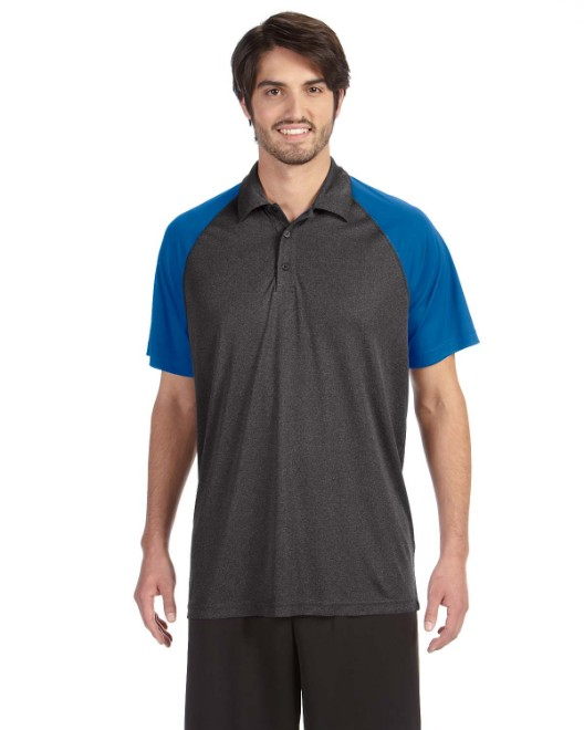 Picture of All Sport M1829 Unisex Performance Three-Button Raglan Polo
