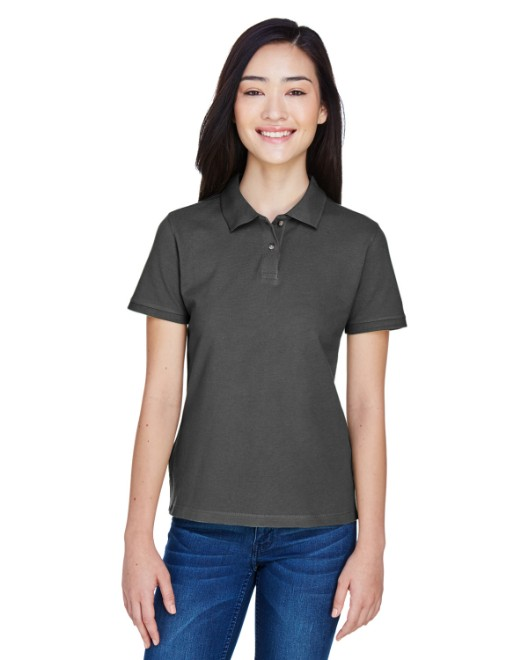 Picture of Harriton M200W Womens 6 oz. Ringspun Cotton Pique Short-Sleeve Polo