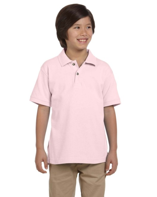 Picture of Harriton M200Y Youth 6 oz. Ringspun Cotton Pique Short-Sleeve Polo