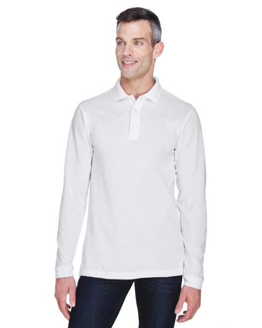 Picture of Harriton M265L Men's 5.6 oz. Easy Blend Long-Sleeve Polo