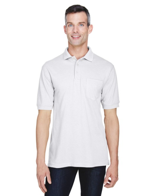 Picture of Harriton M265P Men's 5.6 oz. Easy Blend Polo with Pocket