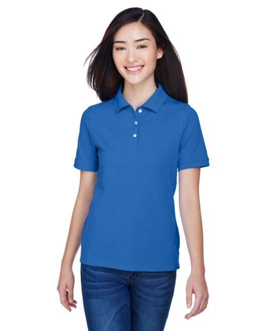 Picture of Harriton M265W Womens 5.6 oz. Easy Blend Polo