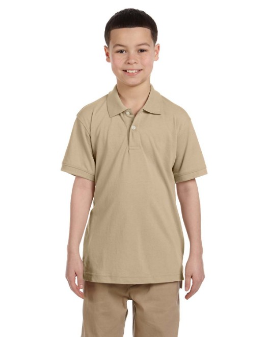 Picture of Harriton M265Y Youth 5.6 oz. Easy Blend Polo