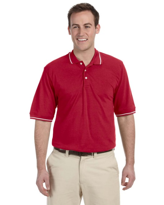 Picture of Harriton M270 Men's 5.6 oz. Tipped Easy Blend Polo