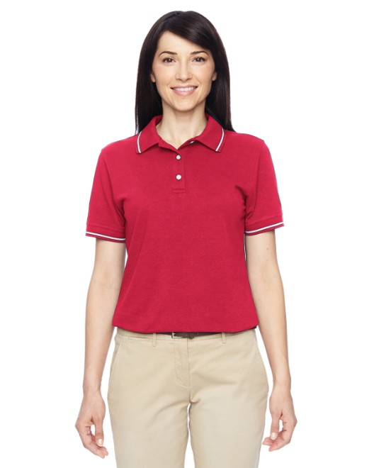 Picture of Harriton M270W Womens 5.6 oz. Tipped Easy Blend Polo