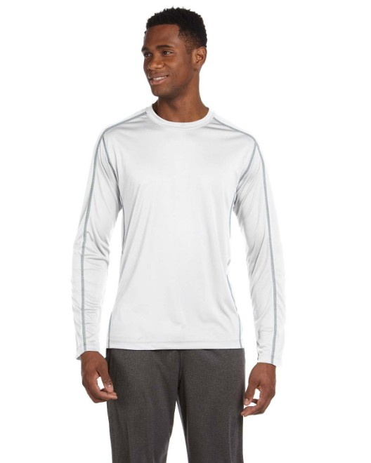 Picture of All Sport M3021 Men's Long-Sleeve Interlock Pieced T-Shirt