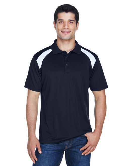 Picture of Harriton M318 Adult 4 oz. Polytech Colorblock Polo