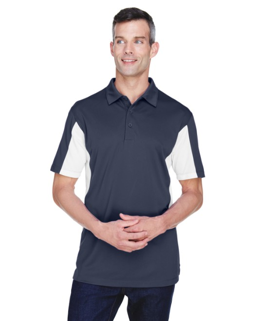 Picture of Harriton M355 Men's Side Blocked Micro-Pique Polo