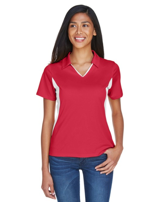 Picture of Harriton M355W Womens Side Blocked Micro-Pique Polo