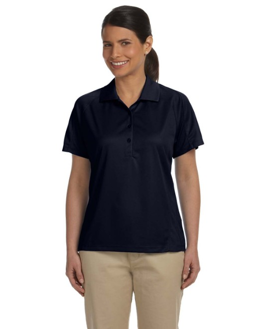 Picture of Harriton M374W Womens 3.8 oz. Polytech Mesh Insert Polo