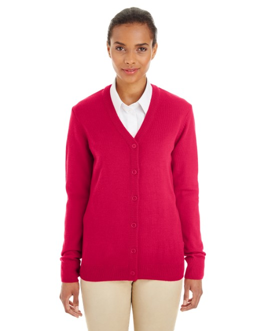 Picture of Harriton M425W Womens Pilbloc V-Neck Button Cardigan Sweater