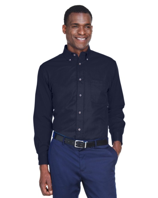 Picture of Harriton M500 Men's Easy Blend Long-Sleeve Twill Shirt with Stain-Release