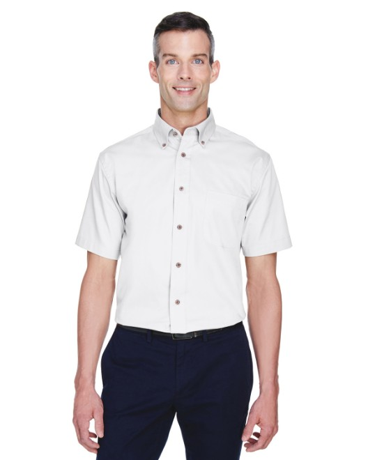 Picture of Harriton M500S Men's Easy Blend Short-Sleeve Twill Shirt with Stain-Release