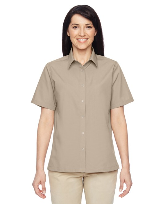 Picture of Harriton M545W Womens Advantage Snap Closure Short-Sleeve Shirt