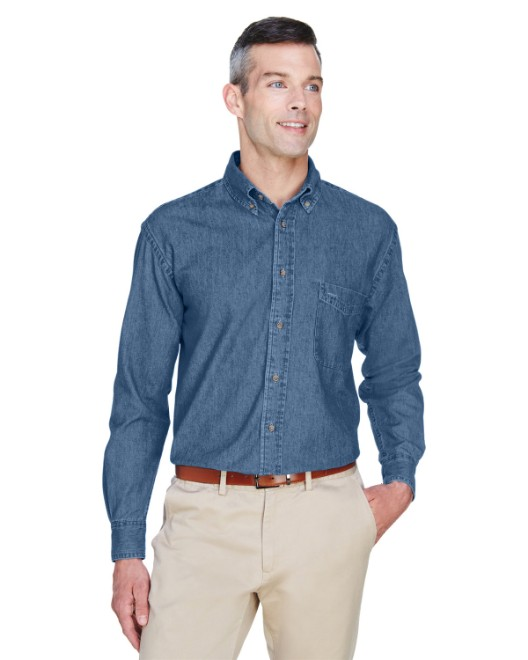 Picture of Harriton M550 Men's 6.5 oz. Long-Sleeve Denim Shirt
