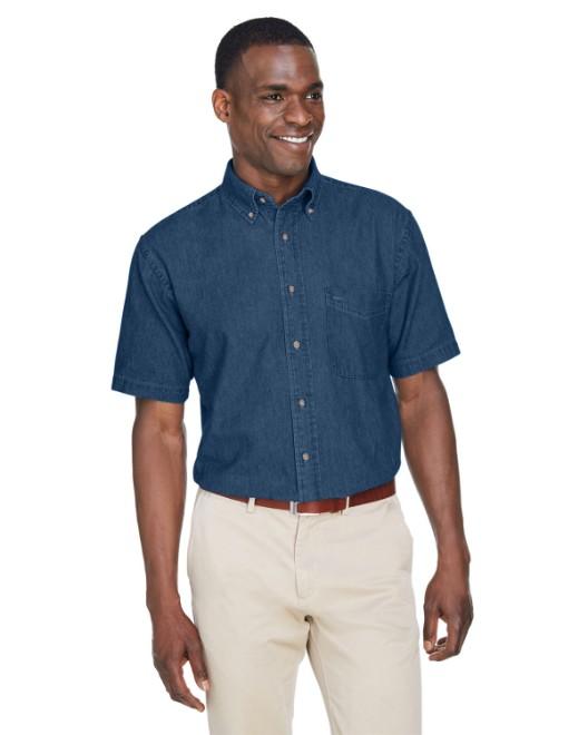 7767c145309 Shirts In Bulk. Harriton M550 Men s 6.5 oz. Long-Sleeve Denim Shirt