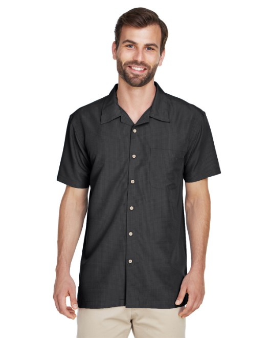 Picture of Harriton M560 Men's Barbados Textured Camp Shirt