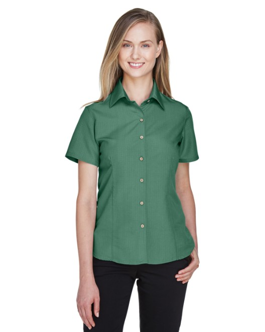 Picture of Harriton M560W Womens Barbados Textured Camp Shirt