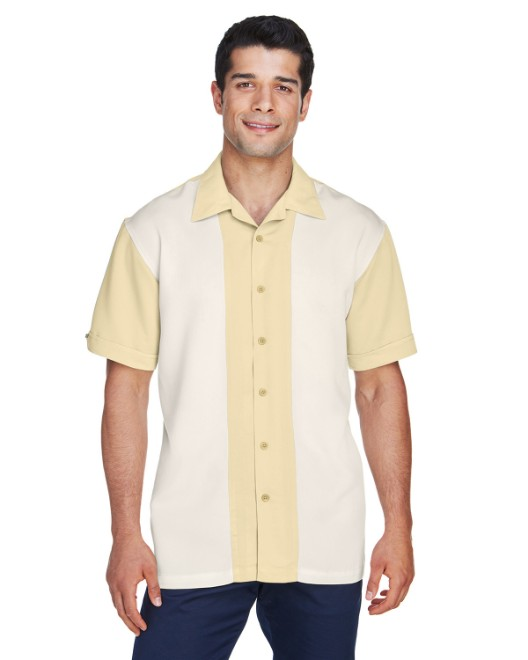Picture of Harriton M575 Men's Two-Tone Bahama Cord Camp Shirt