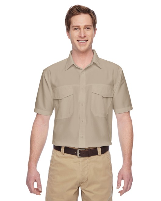 Picture of Harriton M580 Men's Key West Short-Sleeve Performance Staff Shirt