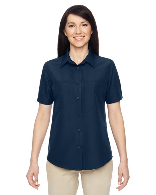 Picture of Harriton M580W Womens Key West Short-Sleeve Performance Staff Shirt