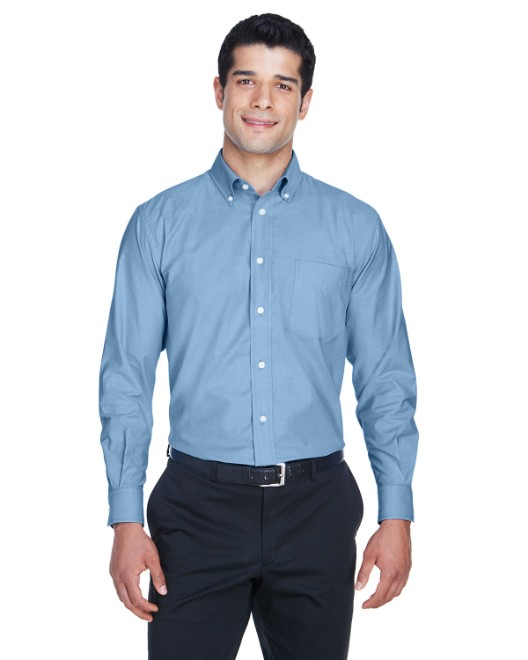 Picture of Harriton M600 Men's Long-Sleeve Oxford with Stain-Release
