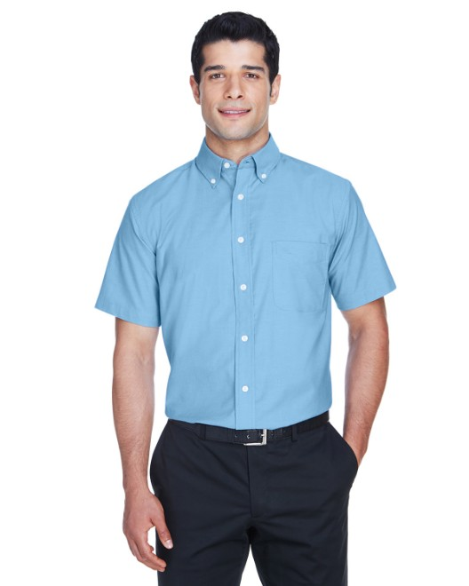 Picture of Harriton M600S Men's Short-Sleeve Oxford with Stain-Release