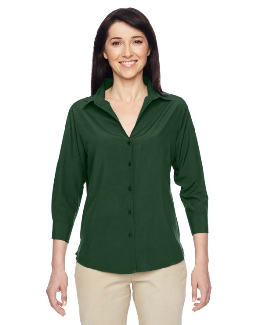 Picture of Harriton M610W Womens Paradise 3/4-Sleeve Performance Shirt