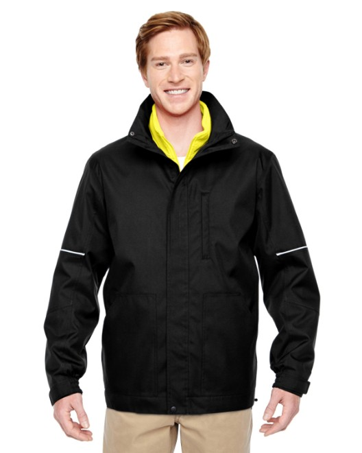 Picture of Harriton M772 Adult Contract 3-in-1 Jacket with Daytime Hi-Vis Fleece Vest