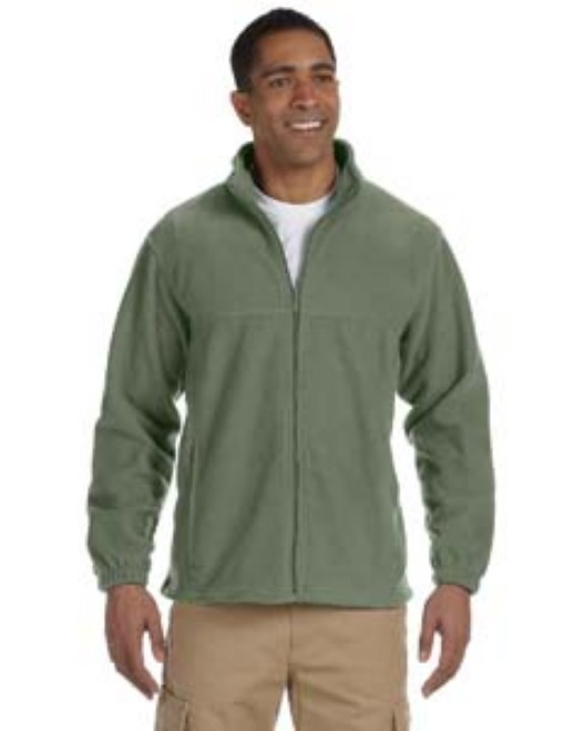 Picture of Harriton M990T Men's Tall 8 oz. Full-Zip Fleece