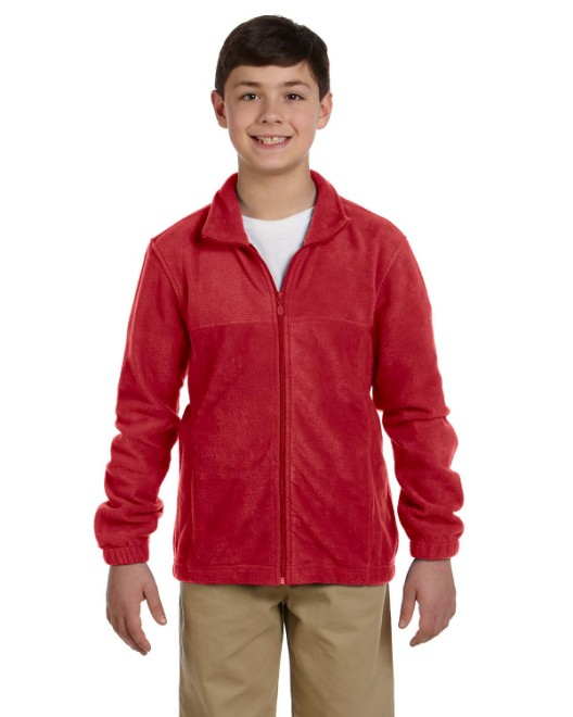 Picture of Harriton M990Y Youth 8 oz. Full-Zip Fleece