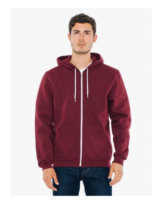 Picture of American Apparel MT497W Unisex Salt And Pepper Hooded Zip Sweatshirt