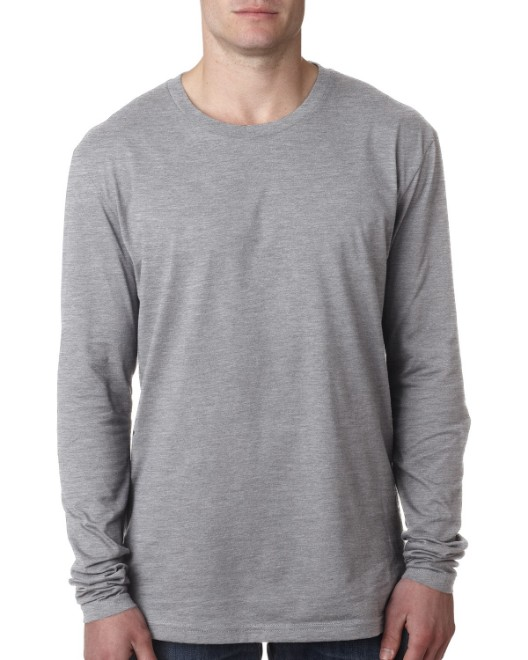 Picture of Next Level N3601 Men's Cotton Long-Sleeve Crew