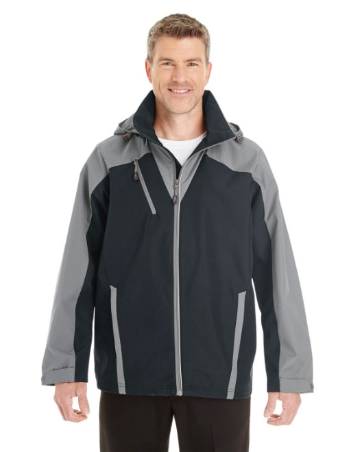 Picture of Ash City - North End NE700 Men's Embark Interactive Colorblock Shell with Reflective Printed Panels