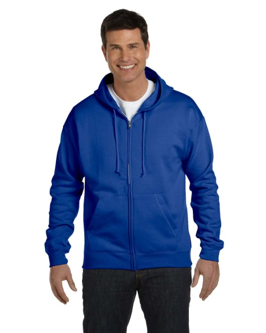 Picture of Hanes P180 Adult 7.8 oz. EcoSmart 50/50 Full-Zip Hood