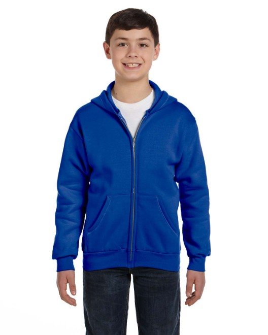 Picture of Hanes P480 Youth 7.8 oz. EcoSmart 50/50 Full-Zip Hood