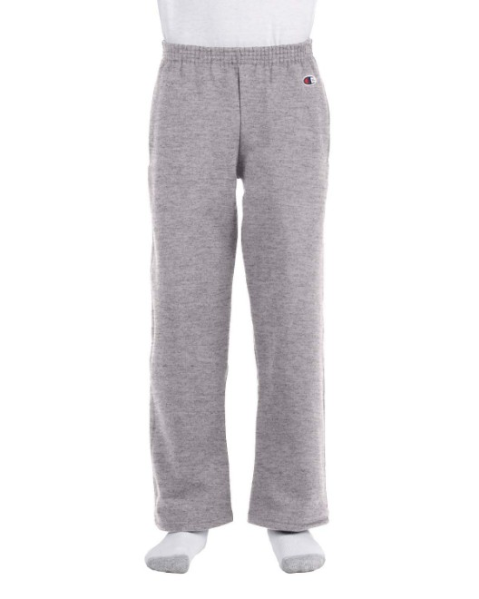 Picture of Champion P890 Youth 9 oz. Double Dry Eco Open-Bottom Fleece Pant