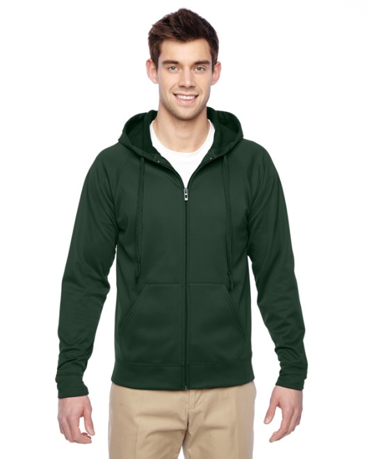 Picture of Jerzees PF93MR Adult 6 oz. DRI-POWER SPORT Full-Zip Hooded Sweatshirt