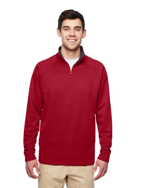 Picture of Jerzees PF95MR Adult 6 oz. DRI-POWER SPORT Quarter-Zip Cadet Collar Sweatshirt