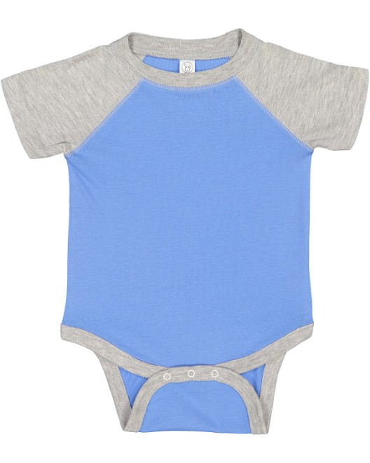 Picture of Rabbit Skins RS4430 Infant Baseball Fine Jersey Bodysuit
