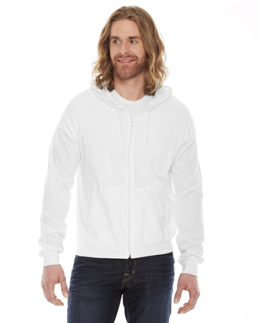 Picture of American Apparel SA2402W Unisex Fine Jersey Zip Hoodie