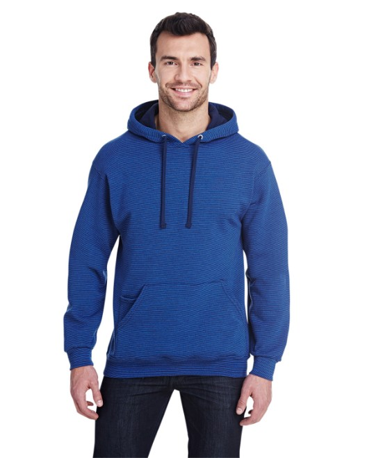 Picture of Fruit of the Loom SF77R Adult 7.2 oz. Sofspun Striped Hooded Sweatshirt
