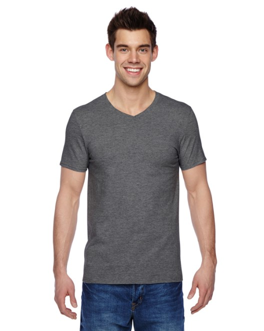 Picture of Fruit of the Loom SFVR Adult 4.7 oz. Sofspun Jersey V-Neck T-Shirt