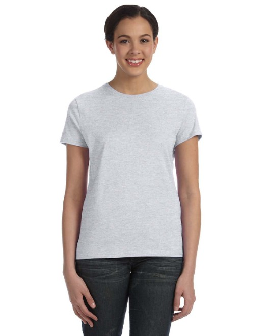 Picture of Hanes SL04 Womens 4.5 oz., 100% Ringspun Cotton nano-T T-Shirt