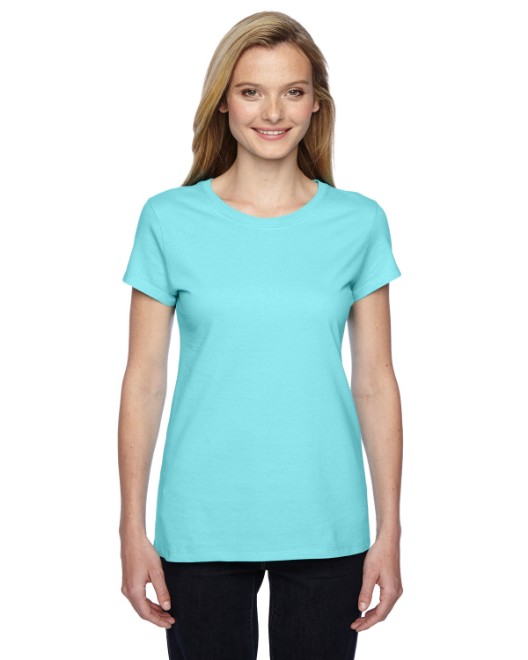 Picture of Fruit of the Loom SSFJR Womens 4.7 oz. Sofspun Jersey Junior Crew T-Shirt