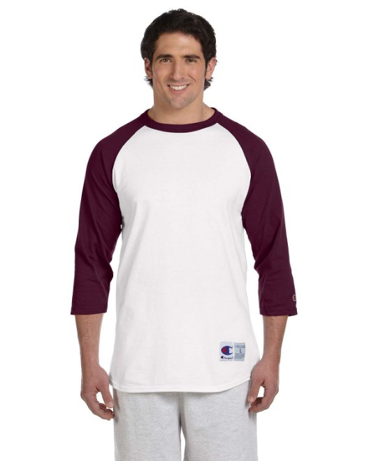 Picture of Champion T1397 Adult 5.2 oz. Raglan T-Shirt