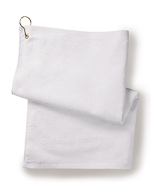 Picture of Towels Plus T68GH Deluxe Hemmed Hand Towel with Corner Grommet and Hook
