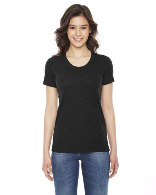Picture of American Apparel TR301W Womens Triblend Short-Sleeve Track T-Shirt